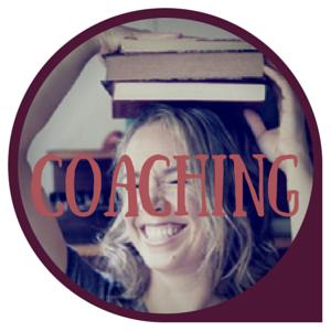 Coaching logo smiling books