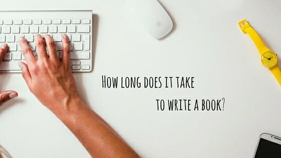 How long it really takes to write a book.